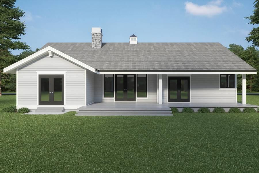 Rear View image of Craftsman 315 House Plan