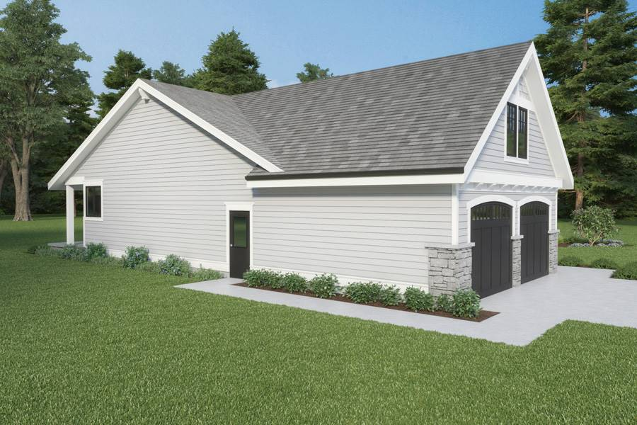 Left View image of Craftsman 315 House Plan