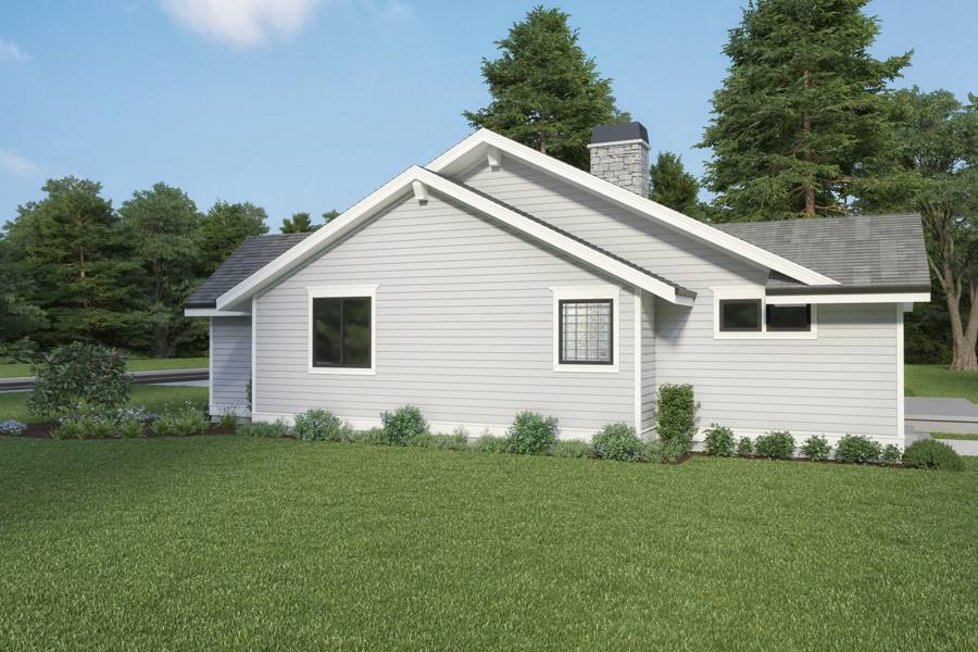 Right View image of Craftsman 315 House Plan