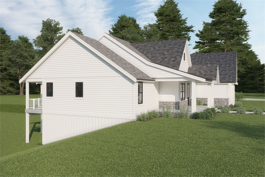 image of Cont. Farmhouse 848 House Plan