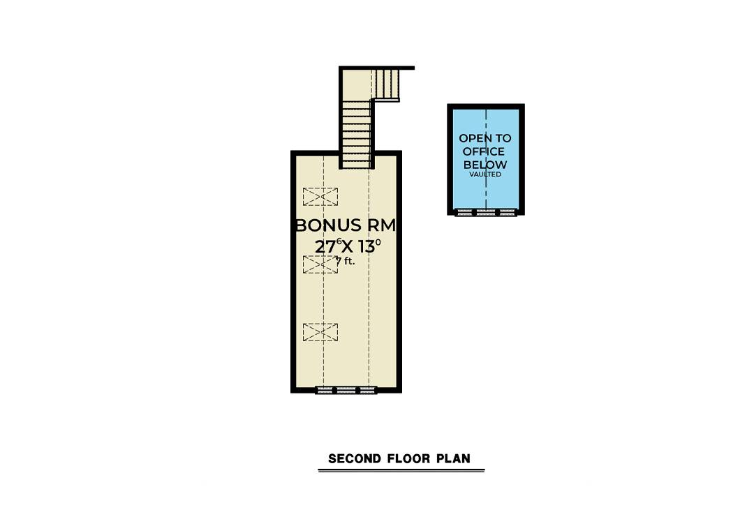 Bonus Plan image of Cont. Farmhouse 851 House Plan