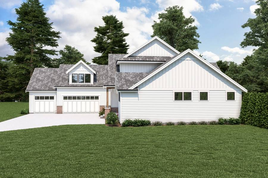 Side View image of 18-073 Cont. Farmhouse 804 House Plan