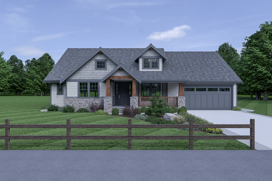 Front View image of Northwest 602 House Plan