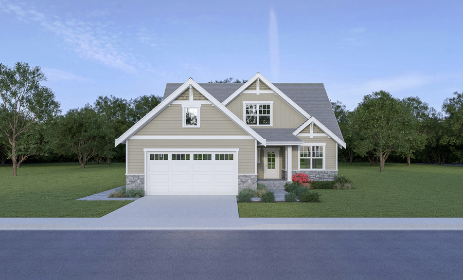 Front View image of Craftsman 305 House Plan