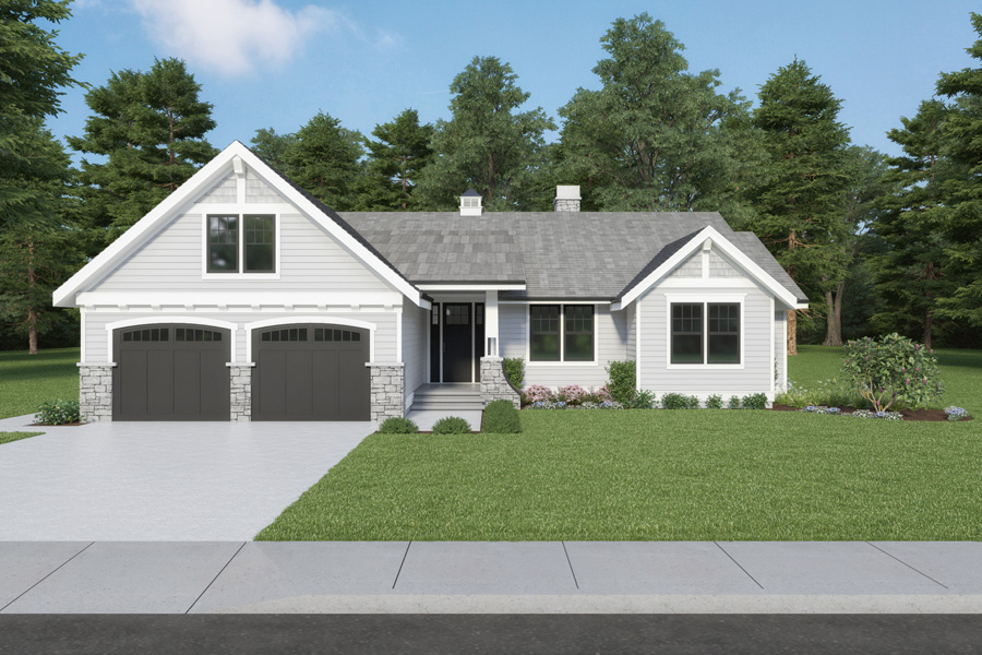 Front View image of Craftsman 315 House Plan