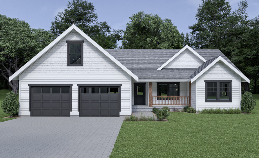 Front View image of Craftsman 306 House Plan