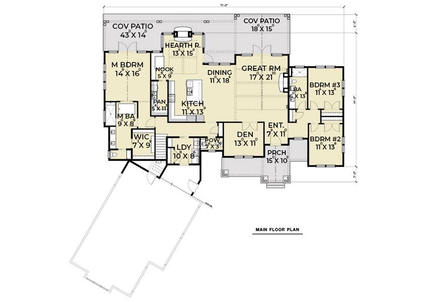 1st Floor image of Northwest 622 House Plan