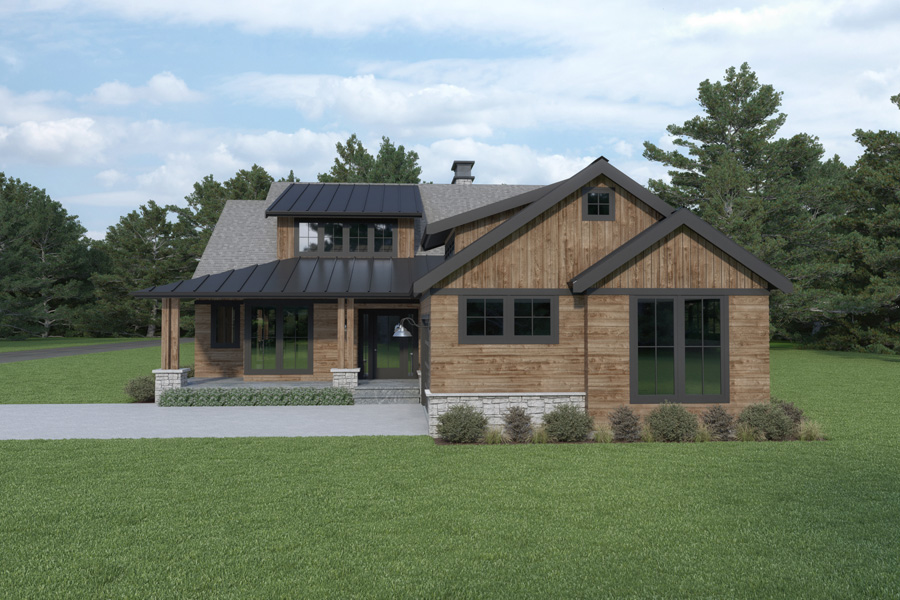 Front View image of Craftsman 392 House Plan