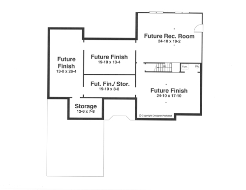 Lower Level by DFD House Plans