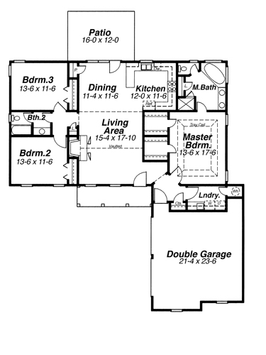 Cape Cod House Plan With 3 Bedrooms And 2 5 Baths Plan 6818