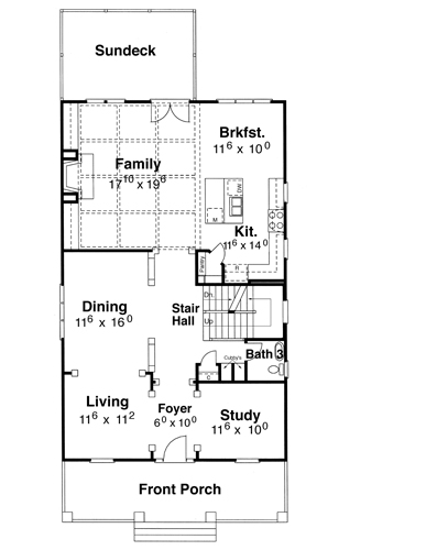First Floor image of Kensington I - A House Plan