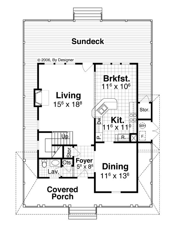 First Floor image of CAMDEN House Plan