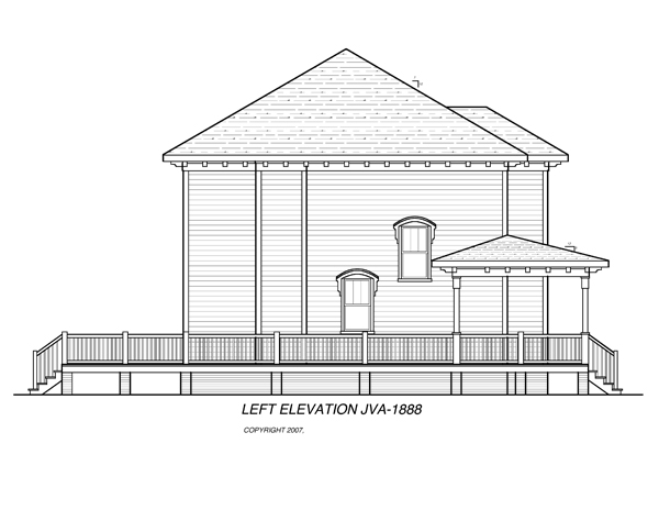 Left Elevation image of CAMDEN House Plan