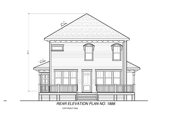 Rear Elevation image of CAMDEN House Plan