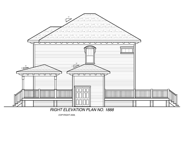 Right Elevation image of CAMDEN House Plan