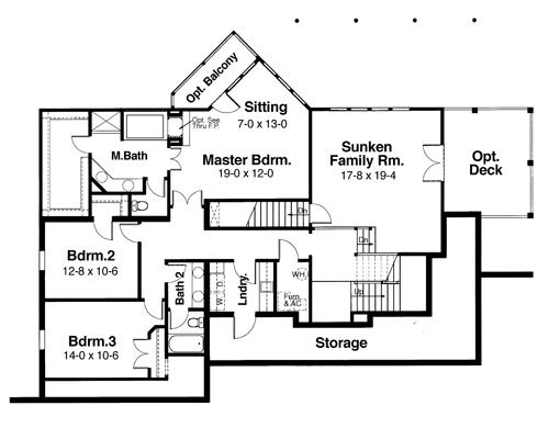 Middle Level by DFD House Plans