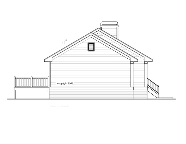 Left Elevation image of DICKEN II-B House Plan