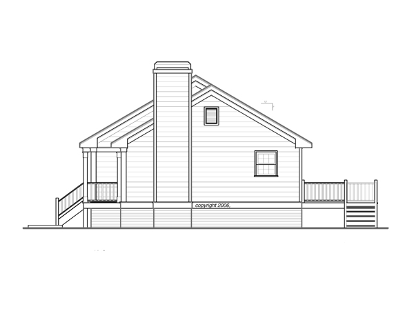 Right Elevation image of DICKEN II-B House Plan