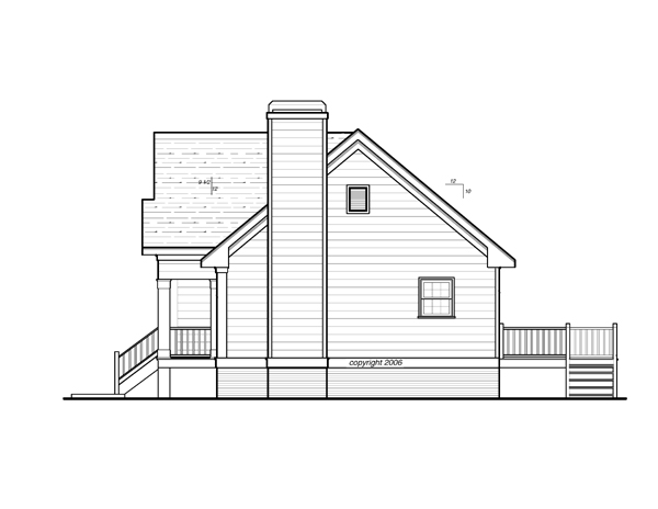 Right Elevation image of DICKENS II-C House Plan