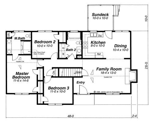 Country House Plan With 3 Bedrooms And 2 5 Baths Plan 6830