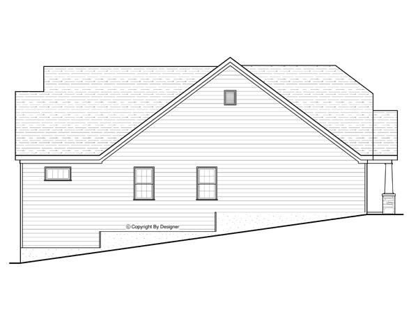 Right Elev. Bsmt by DFD House Plans