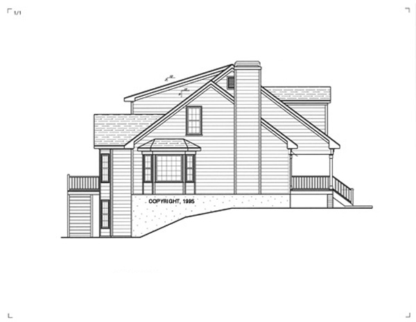 Left Elevation image of WOODROW House Plan