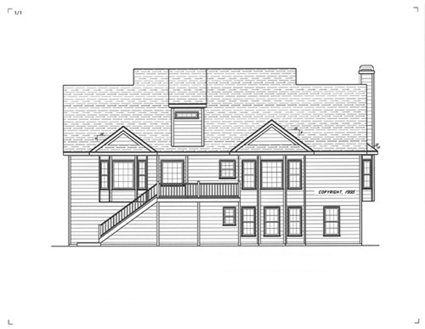 Rear Elevation image of WOODROW House Plan