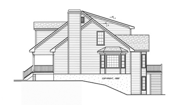 Right Elevation image of WOODROW House Plan