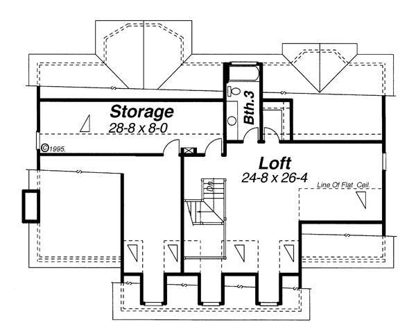 Second Floor image of WOODROW House Plan