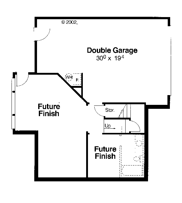 Lower Level Standard Garage by DFD House Plans