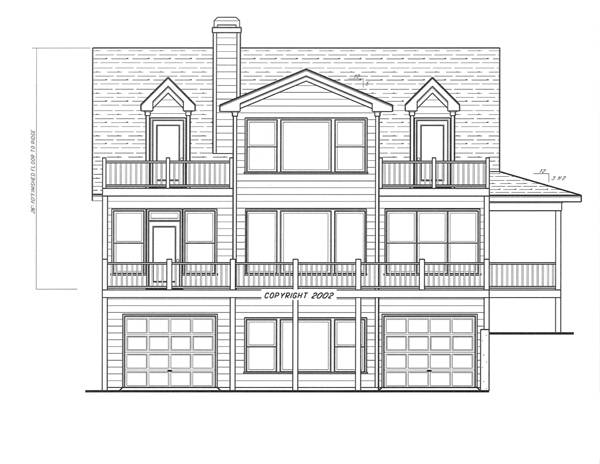 Left Elevation-Garage entry option