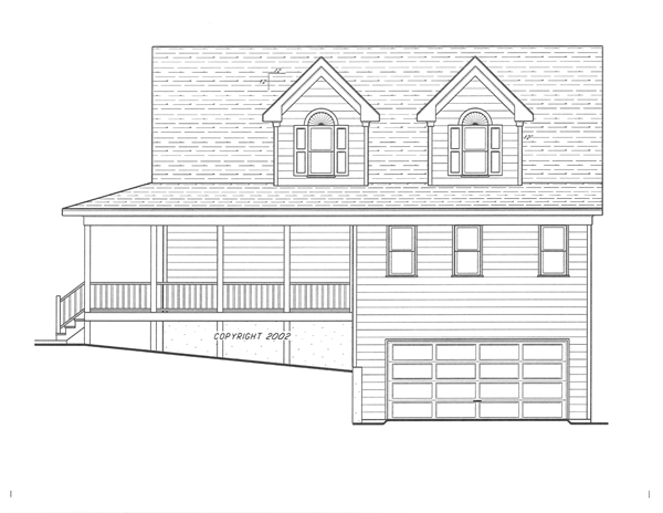 Right Elevation-Standard Garage by DFD House Plans