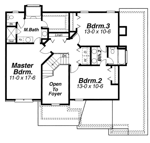 Second Floor image of ARLINGTON-A House Plan