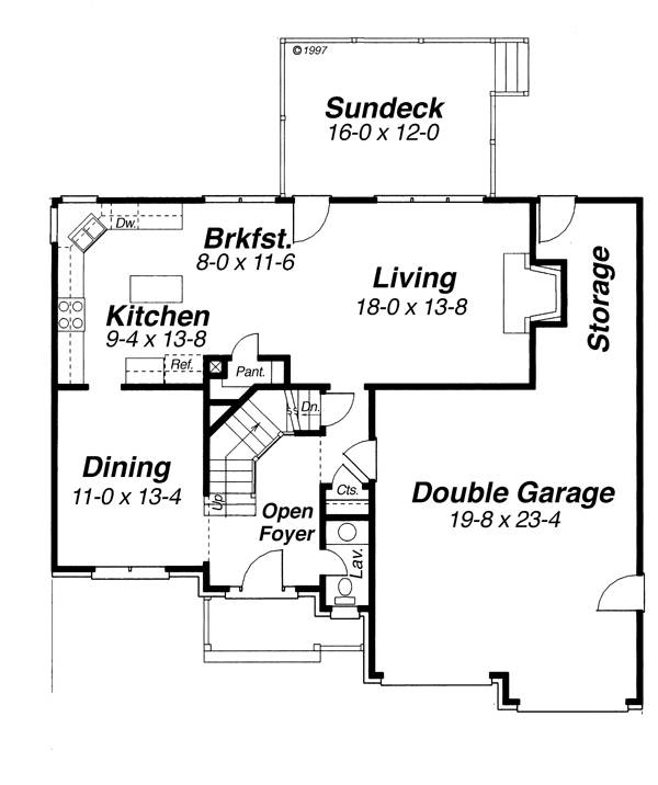 First Floor image of ARLINGTON-A House Plan