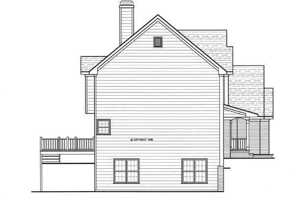 Left Elevation image of ARLINGTON-A House Plan