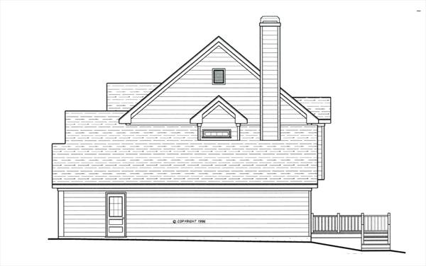 Right Elevation image of ARLINGTON-A House Plan