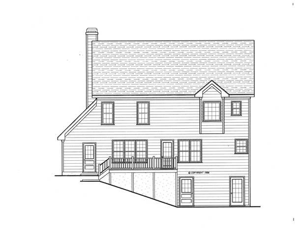 Rear Elevation image of ARLINGTON-A House Plan