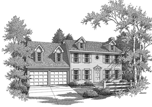 Rendering image of Morgan-B House Plan