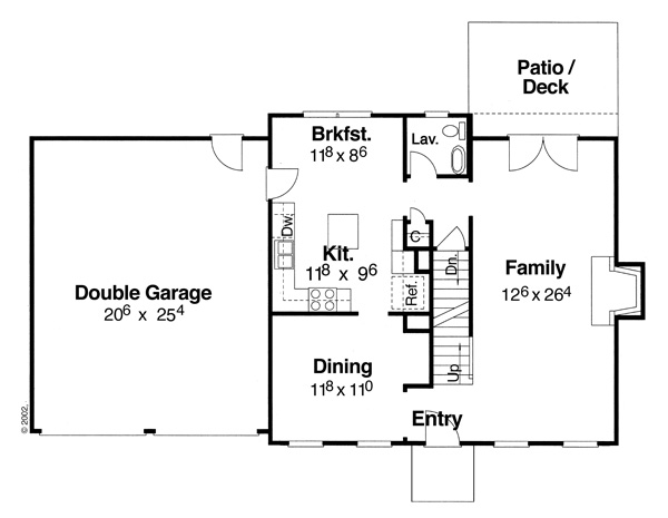 First Floor image of Morgan-B House Plan
