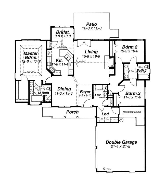 Cape Cod House Plan With 3 Bedrooms And 2 5 Baths Plan 5853