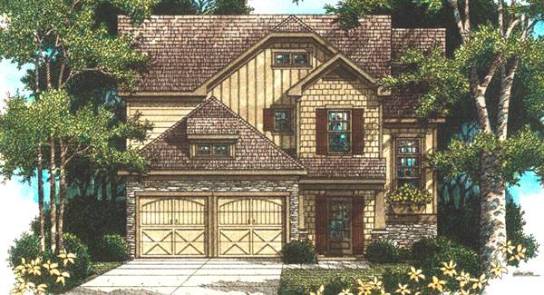 Rendering image of Highlands House Plan