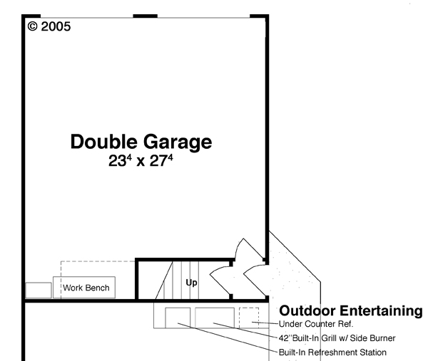 Garage w/ Apt. Above by DFD House Plans