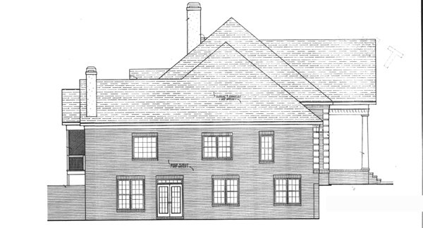Left Elevation image of VICTOR House Plan