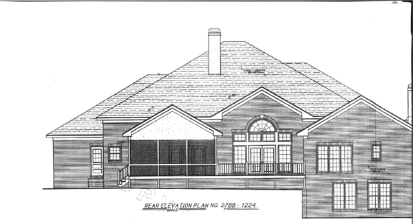 Rear Elevation image of VICTOR House Plan