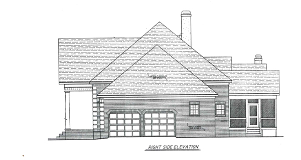 Right Elevation image of VICTOR House Plan