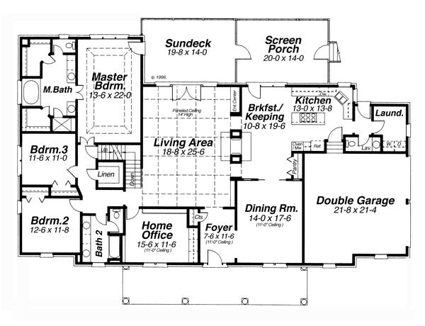 Floor Plan image of VICTOR House Plan