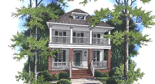 Rendering image of Kensington I - A House Plan