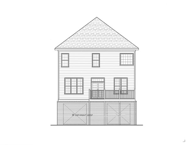 Rear Elevation image of Kensington I - A House Plan