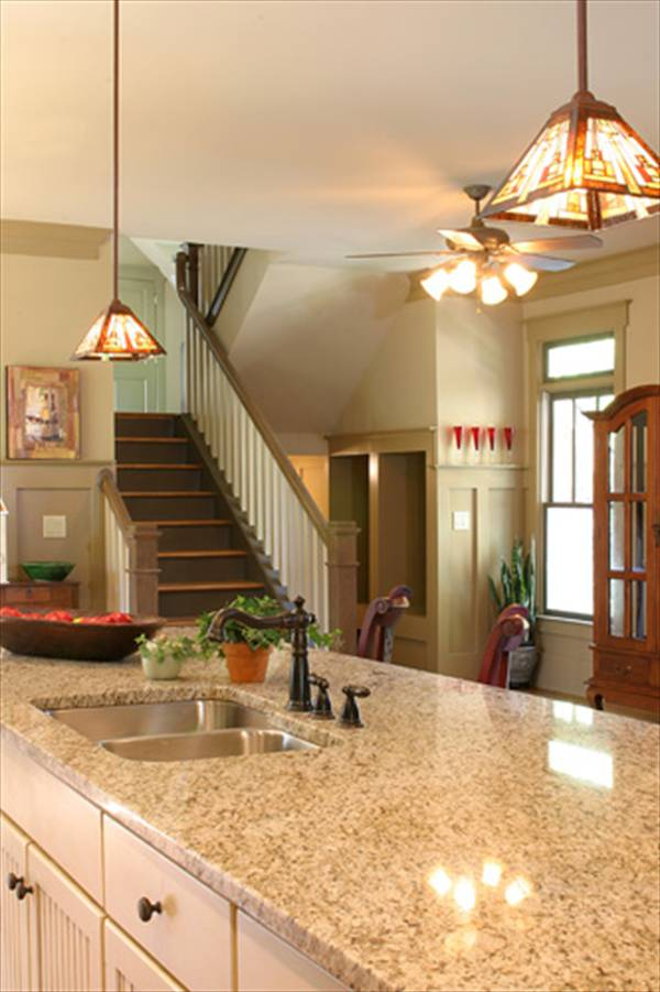 Kitchen Staircase by DFD House Plans
