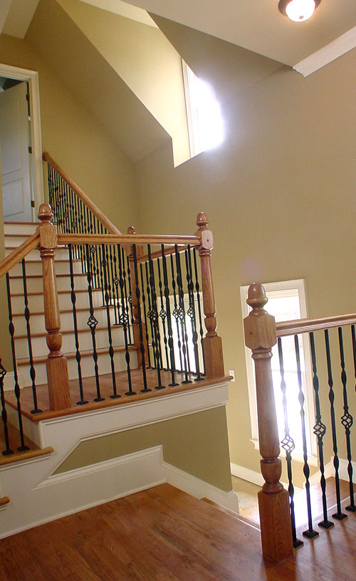 Rear Stair Hall by DFD House Plans